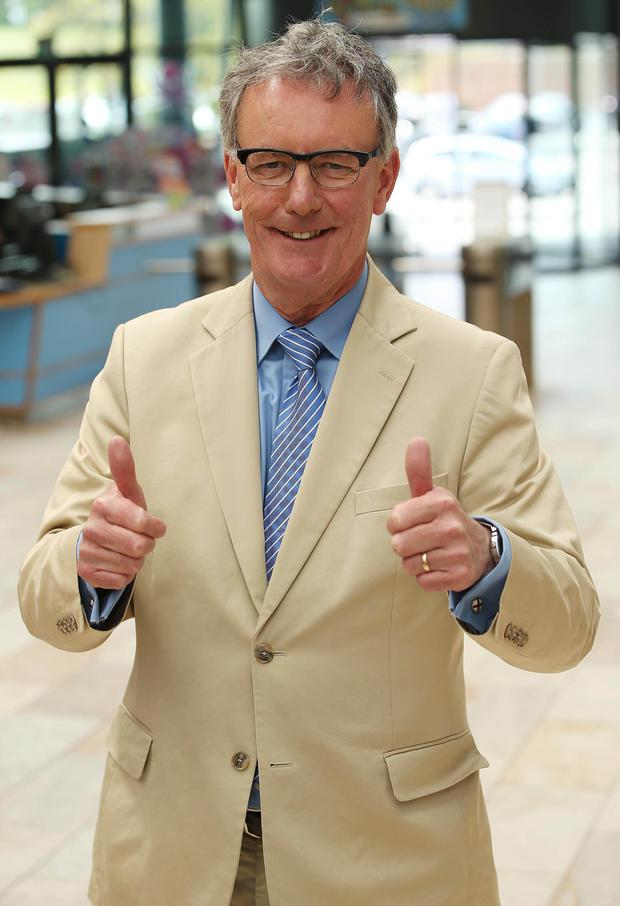 Ulster Unionist chief Mike Nesbitt celebrates his election