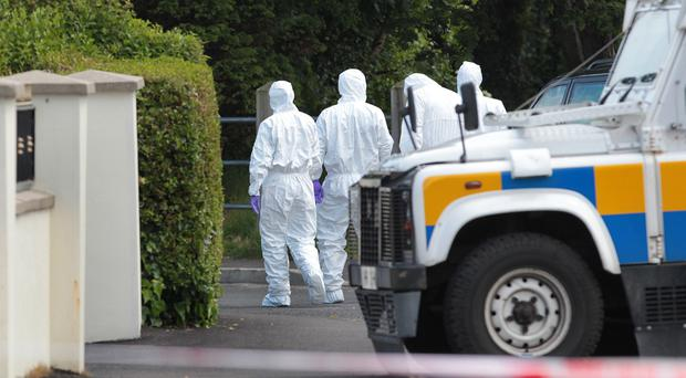 The scene of the bomb find in Eglinton last year