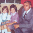 Ruth McQuillan-Wilson (middle), with her father Sam and sister Lynda