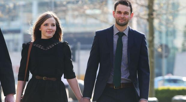 Daniel and Amy McArthur, of Ashers Baking Company, arrive at the Court of Appeal in Belfast