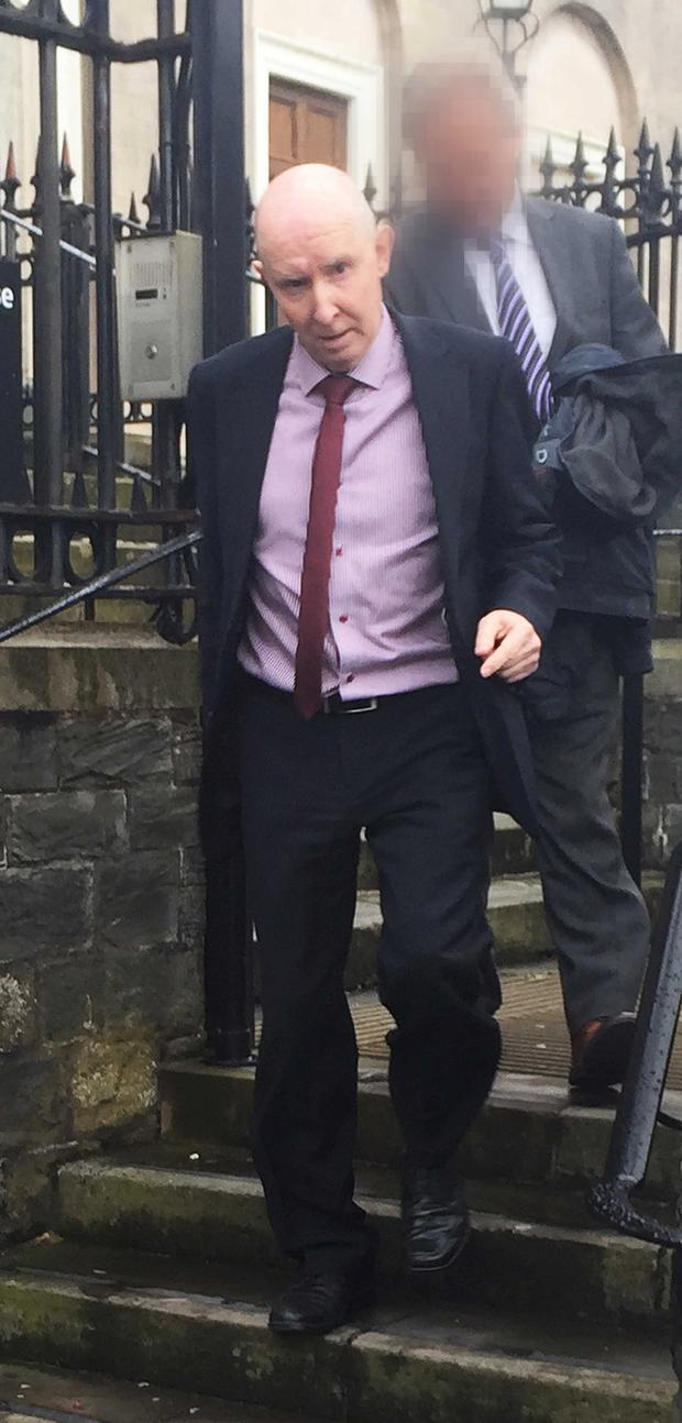 Terrence Connor leaving Downpatrick Crown Court yesterday
