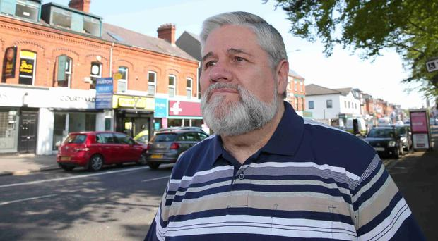 George Larmour close to where his brother John was murdered on the Lisburn Road in 1988