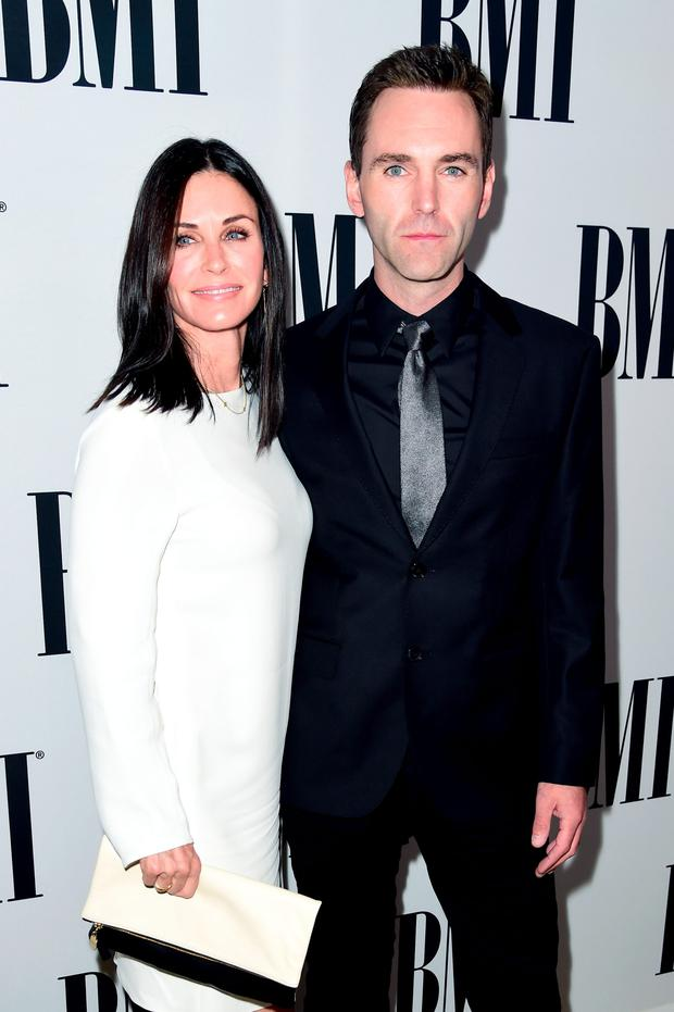 Courteney Cox and Johnny McDaid at the BMI Pop Awards in LA