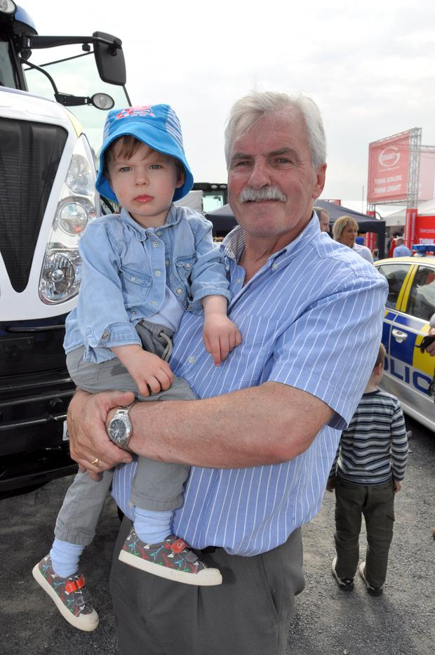 Alan Fraser and grandson Alfie Bowen