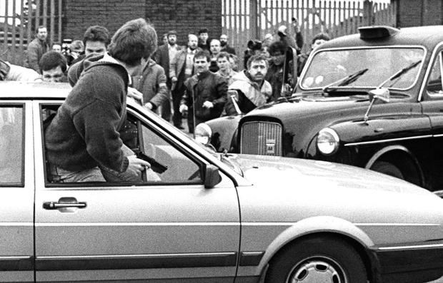 The horrifying moment that Corporals Derek Wood and David Howes came under attack by a mob at an IRA funeral in 1988