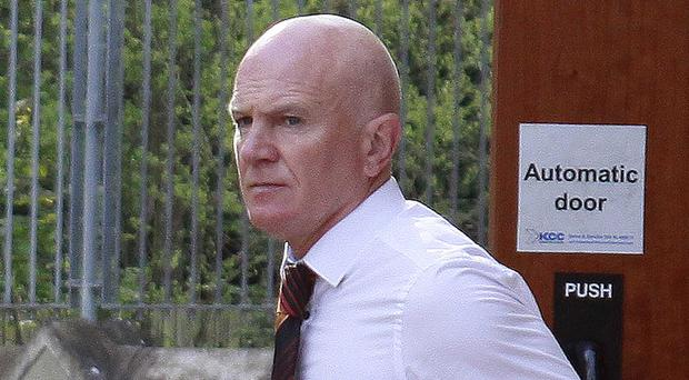 Former All-Ireland GAA champion John McGurk at Antrim court yesterday