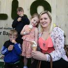 Joel, Jake, Emily Rose and Lindsey Ferguson from Maghaberry cooling down with ice creams yesterday