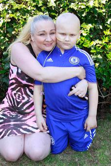 Donna McCrellis and her son Hunter