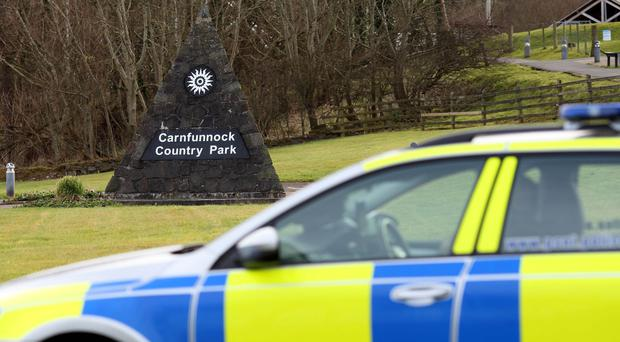 The discovery comes after bomb-making components were found at Carnfunnock Country Park