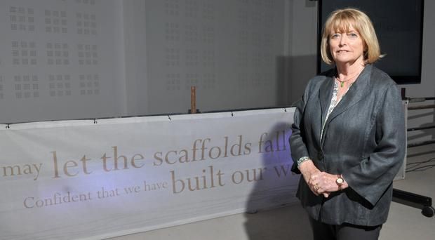 Seamus Heaney's widow Marie at the HomePlace centre dedicated to the poet's memory