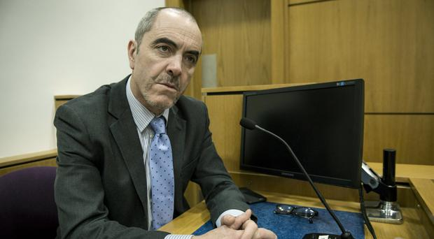 James Nesbitt as Colin Howell in a court scene