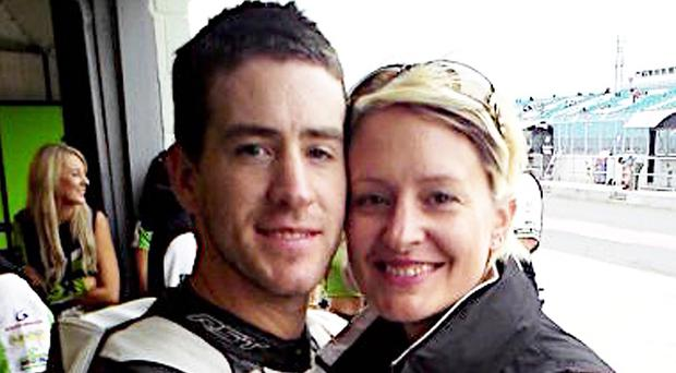 Simon Andrews with his sister Claire