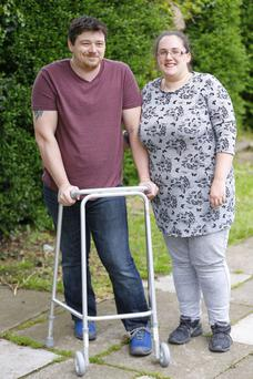 Stroke victim Richard Shields with his wife Hazel