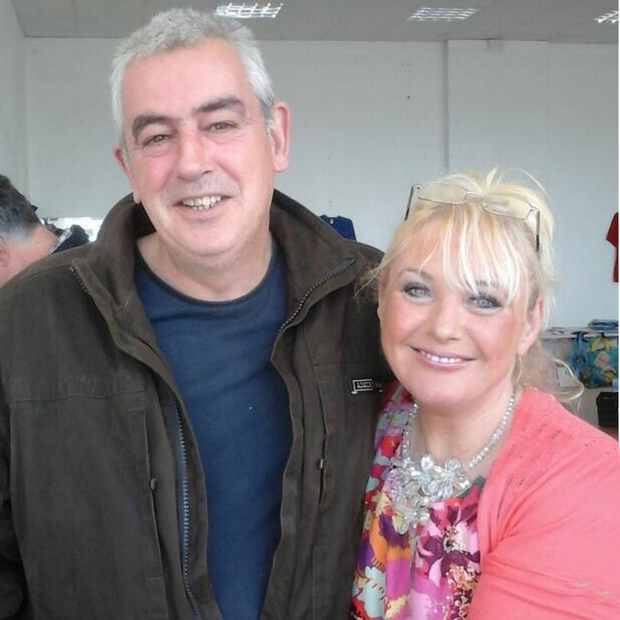 Anita Rooney, seen here with husband Mickey, fell to her death at Craigavon hospital