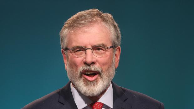 Gerry Adams has rejected calls to stand aside as leader of Sinn Fein in the Republic