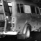 The bullet-ridden van in which the men were travelling when the 1976 Kingsmills massacre occurred
