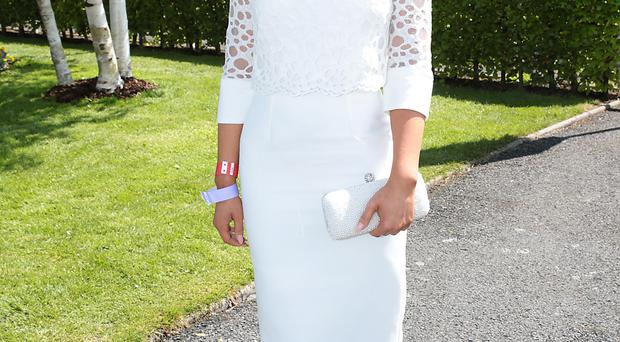 Kirsty Farrell from Newry, winner of the Killashee Irish Tatler Style Icon award at the 1000 Guineas in The Curragh