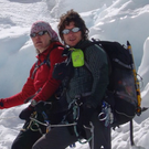 Noel and Lynne during their climb to fulfil their dream of scattering the ashes of Babu on the summit of the mountain