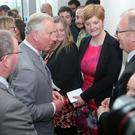 Prince Charles chats to staff on his visit to the Institute of Electronics, Communications and Information Technology