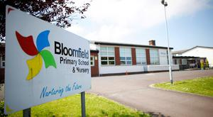 Bloomfield Primary School in Bangor was evacuated after a bomb scare, as police escort Linn Primary staff back into school after a bomb threat forced the premises to be cleared