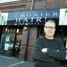 Hairdresser David Aumonier outside his city centre salon