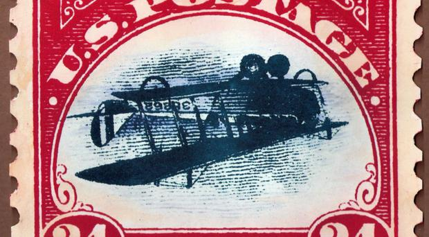 The legendary Inverted Jenny stamp which went missing in 1955