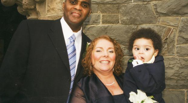 Teresa Sears with late husband Torraine and son Tony