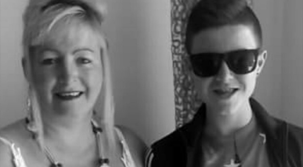 Kyle with mum Donna