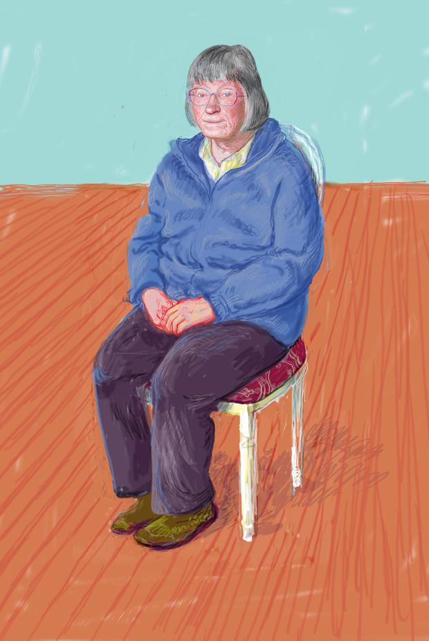 """Margaret Hockney"" 2008"