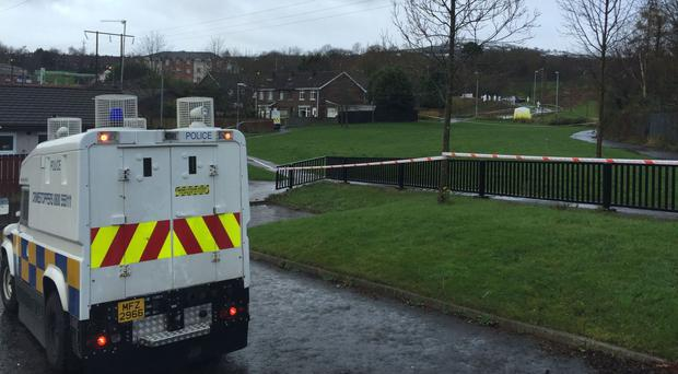 A PSNI vehicle was targeted in a petrol-bomb attack in Co Antrim