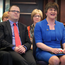 Raymond Farrell with Arlene Foster at the DUP spring conference at the Roe Park Hotel in Limavady in March