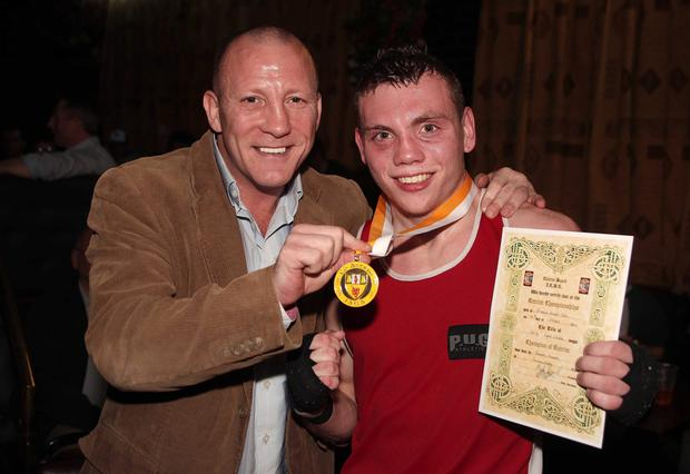 Eamonn Magee Jnr with his father Eamonn Snr