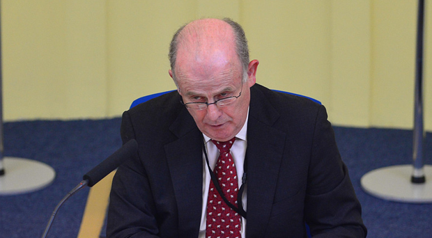 Sir Anthony Hart during the hearing in Banbridge