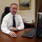 Professor Patrick Johnston in his office