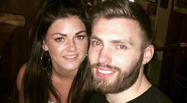 Northern Ireland player Stuart Dallas and fiancee Juneve