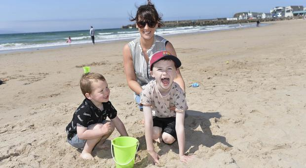 Fun in the sun on Portrush west strand