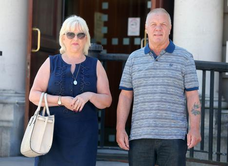 Raymond and Vivienne McCord at the High Court in Belfast yesterday