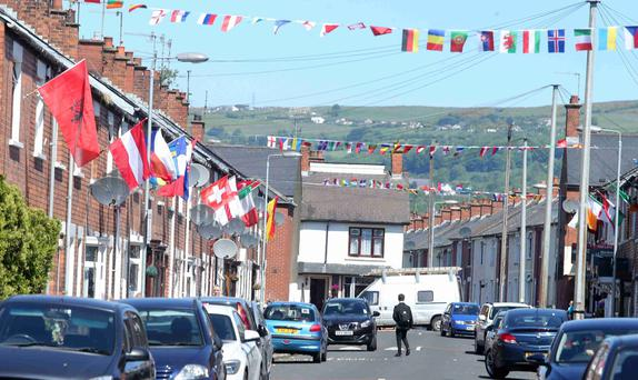 Residents of Iris Drive are flying the flags for the Euro 2016 tournament
