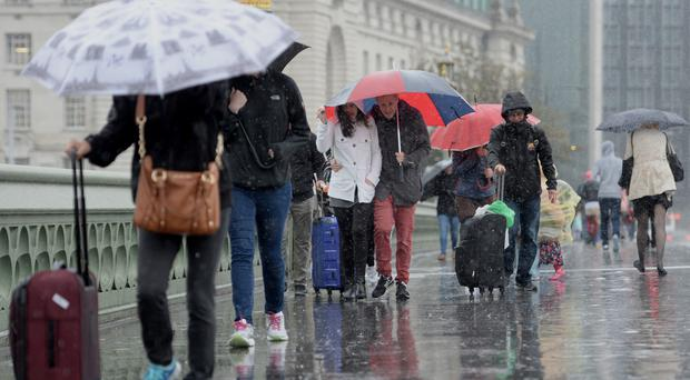 Yellow warnings for rain have been issued by the Met Office for Tuesday