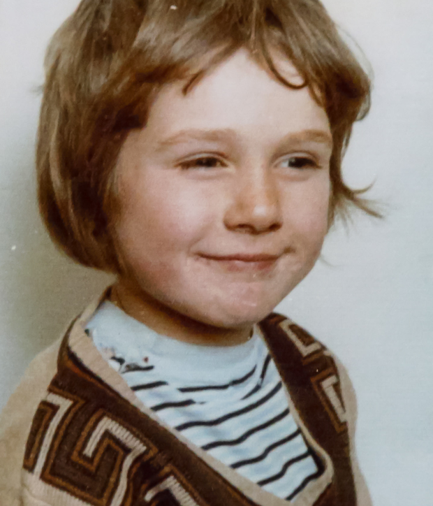 Tony Robin as a young boy