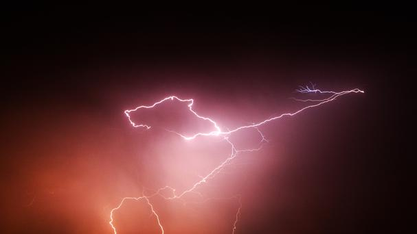 Three people were hurt in a lightning strike in Lisburn