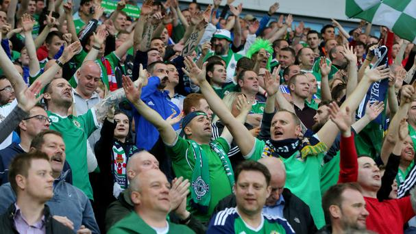 Northern Ireland fans are more optimistic than their English and Welsh counterparts, a survey reveals