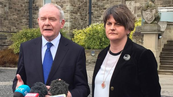 Democratic Unionist First Minister Arlene Foster and Sinn Fein Deputy First Minister Martin McGuinness are working together on historical abuse issue.