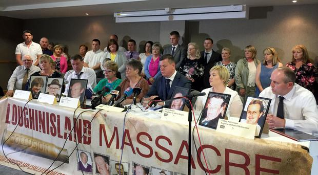 Loughinisland families press conference takes place in the Ramada Hotel in Belfast