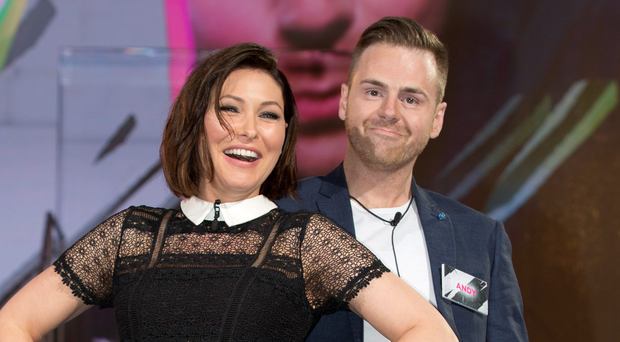Presenter Emma Willis and contestant Andy West during the launch of Big Brother
