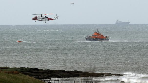 A major search was launched for the microlight