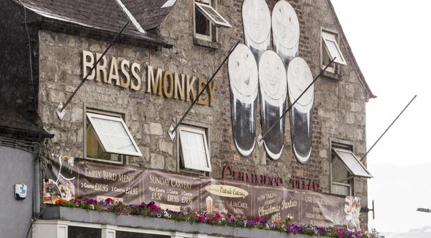 Flags have been removed at the Brass Monkey in Newry