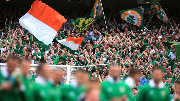 Irish fans have been hailed by gardai representatives