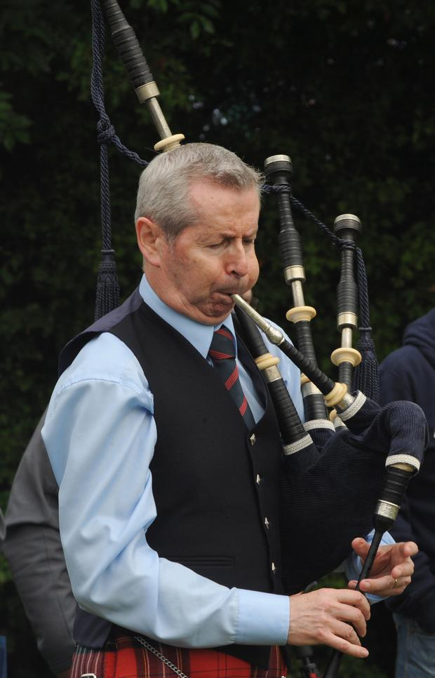 Pipe Major Richard Parkes MBE from the Field Marshal Montgomery Pipe Band