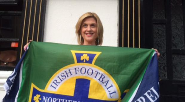Kyle Lafferty's sister Sonia at the pub in Kesh